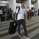 Osmar Loss na chegada ao aeroporto de Salvador na terça-feira (21)