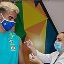 Reinier foi um dos jogadores que foram vacinados em São Paulo