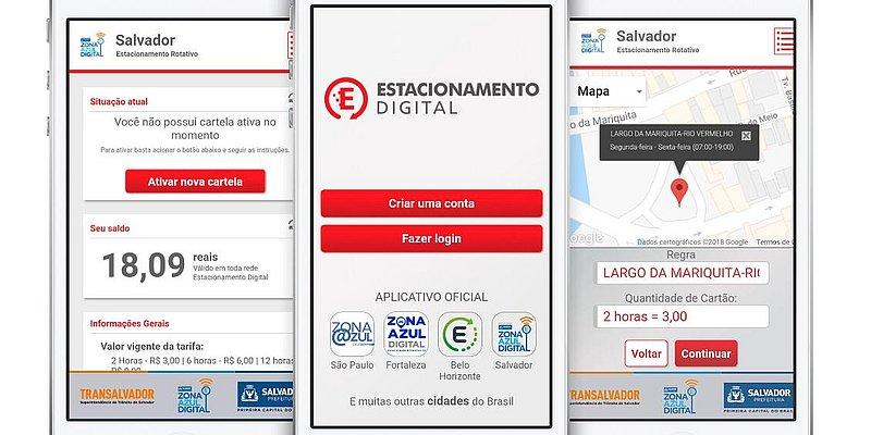 A partir desta segunda já é possível comprar cartela da zona azul por app