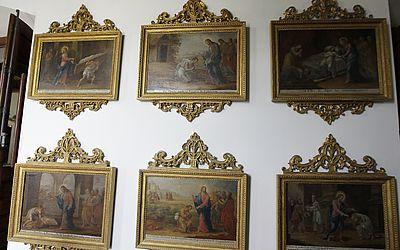 Telas da primeira Escola Baiana de Pintura, dos séculos XVII e XIX