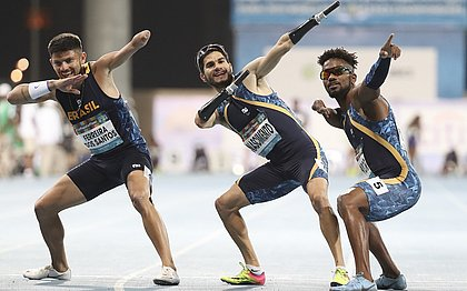 Brasil consegue pódio triplo nos 100m do Mundial de Atletismo