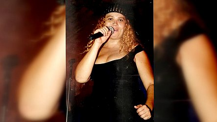 Solange Almeida no início da carreira