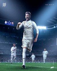 Piqué com a camisa do Real Madrid