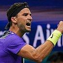 O búlgaro Grigor Dimitrov derrotou o suíço Roger Federer no US Open
