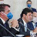 Presidente Jair Bolsonaro e Ministro da Saúde, Luiz Mandetta