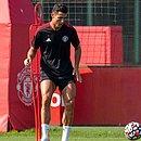 Cristiano Ronaldo em treino no Manchester United