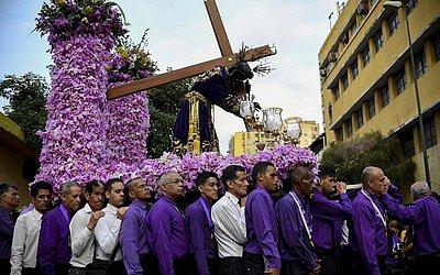 Procissão do Nazareno de San Pablo em Caracas.