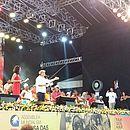 Ato em estádio faz parte da programação do Fórum Social Mundial na capital baiana