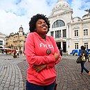 A jovem aprendiz Tailane Barbosa saiu de casa preparada