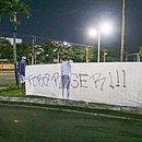 Torcedores fizeram protesto contra o técnico Roger Machado e o momento ruim do Bahia