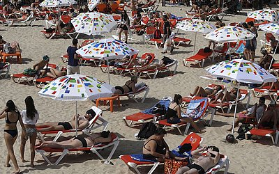 Praia em Tel Aviv, Israel.