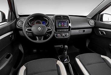 A configuração Intense do Renault Kwid tem central multimídia de série