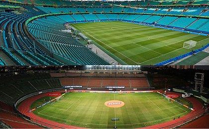 Fonte Nova e Pituaçu são os dois estádios utilizados pelo Bahia