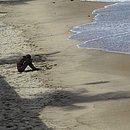 Homem quebra a restrição e acessa à praia da Barra