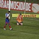Matheus Teixeira lamenta durante um dos cinco gols que o Bahia sofreu para o Flamengo