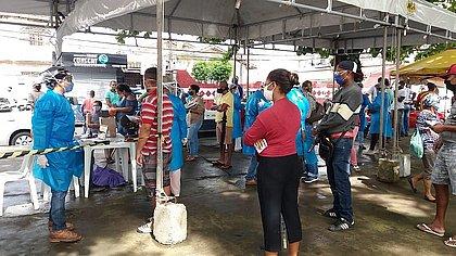 Pernambués teve testagem durante período de restrições
