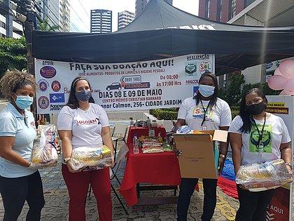 Drive solidário: projetos arrecadam 3,5 toneladas de alimentos para ajudar mães