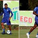 Ernando e Wanderson disputam um lugar no time do Bahia que encara o Palmeiras, neste domingo (17), na Fonte Nova