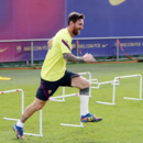 Argentino participou da preparação do Barcelona para o confronto contra o Bayern pelas quartas da Liga dos Campeões