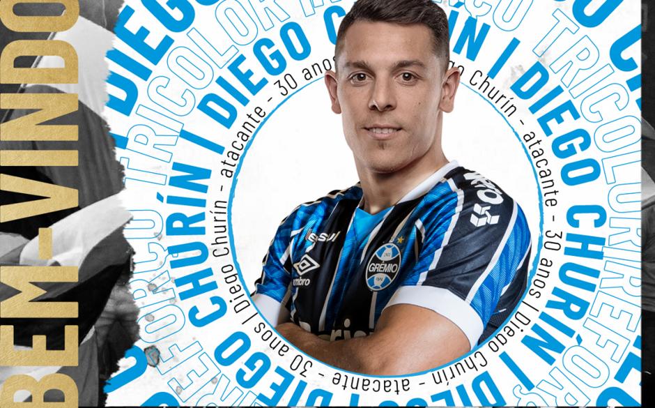 Diego Churín foi anunciado pelo Grêmio