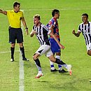 Klaus comemora o gol que leva o Ceará à final