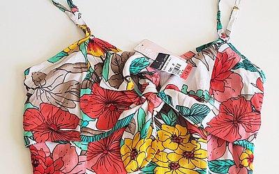 Cropped de tecido de R$ 24,99 por R$ 14,99