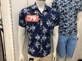Camisa floral (Colombo - Shopping Bela Vista) de R$ 129 por R$ 79,99 (37,99%)