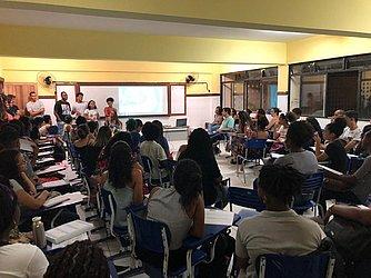 Aula inaugural do Pré-Vestibular Voluntários pela Educação em 2020