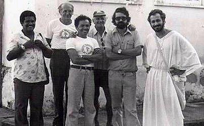 André Setaro em set de filmagem em Cachoeira, em 1979.