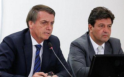Bolsonaro e Mandetta têm posicionamentos diferentes