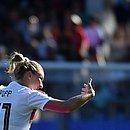 Alexandra Popp comemora o terceiro gol da Alemanha