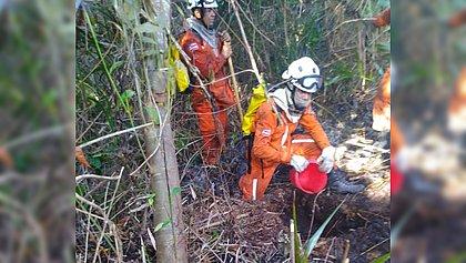 Incêndio florestal atinge reserva florestal em Arraial d'Ajuda