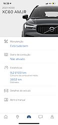 Dá para checar pelo celular vários detalhes do Volvo XC60