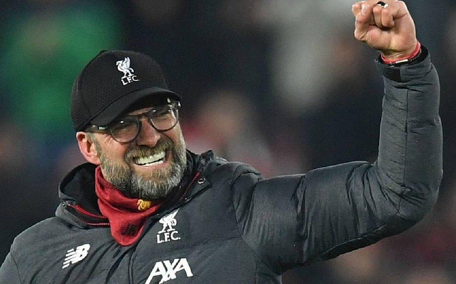 Klopp, do Liverpool, é eleito o melhor treinador da Inglaterra