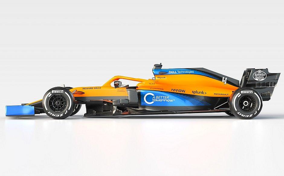 McLaren apresenta modelo MCL35 para a temporada da Fórmula 1