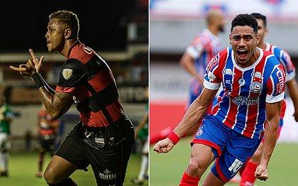 Samuel abriu o placar para o Vitória no triunfo de 2x1 contra o Altos-PI; Matheus Bahia também abriu a contagem na goleada de 4x0 do Bahia sobre o CRB