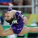 Atleta da ginástica artística, Flávia Saraiva ficou aliviada por ter mais tempo para treinar