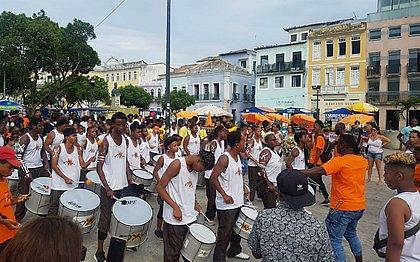Praça da Sé logo após o início da apresentação