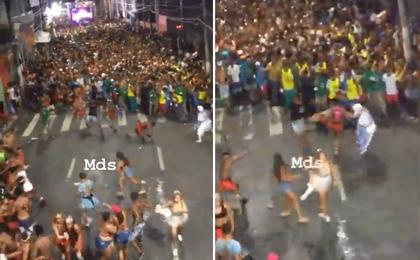 Carnaval: policial de folga se envolve em briga, atira e fere três pessoas no Centro