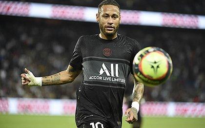 Neymar durante o jogo do PSG contra Montpellier