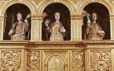 Bustos relicários que estavam no Museu de Arte Sacra retornam à Catedral