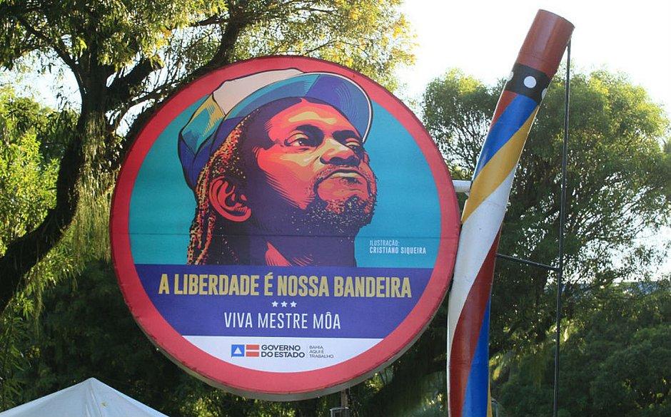 Monumento fica em frente a Arena Fonte Nova