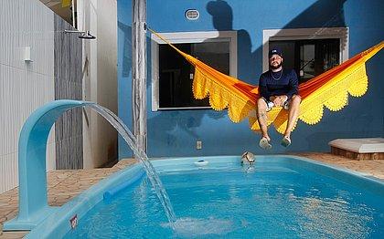Jonatan Menezes comprou na pandemia uma casa em Arembepe, usando o FGTS