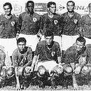 Os Heróis de 1968 do Galícia. Em pé: Dudinha, Roberto Oliveira, Haroldo, Touro, Josias e Nelinho. Agachados: Nélson Leal, Chiquinho, Valtinho, Carlinhos Gonçalves e Telê