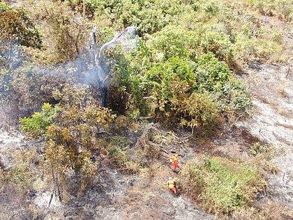 Corpo de Bombeiros controla incêndios na Chapada; secretário diz que pode ter sido intencional
