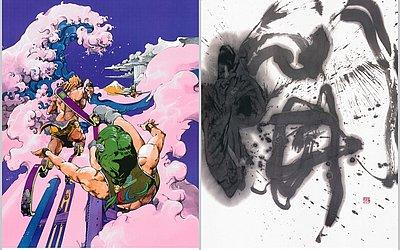 Artes de Hirohiko Araki e Koji Kakinuma para os Jogos Paralímpicos de Tóquio-2020