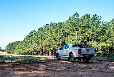 A Chevrolet não promoveu mudanças na traseira da picape média na linha 2021