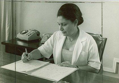 Dona Arlette Magalhães presidiu as Voluntárias Sociais da Bahia