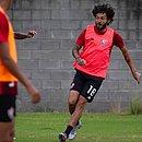 Fernando Neto durante o treino do Vitória