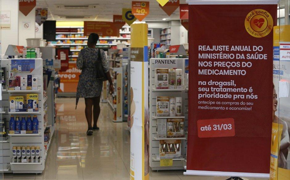 Medicamentos terão reajuste de 4,33% a partir de 1º de abril